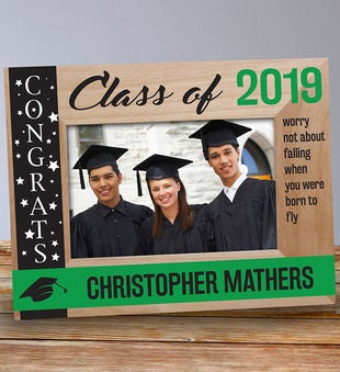 Engraved Congrats Class Of... Wooden Picture Frame
