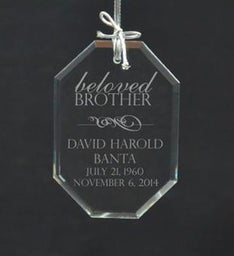 Personalized Beloved Brother Ornament