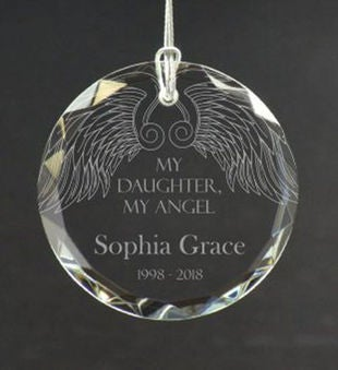 Personalized My Daughter My Angel Ornament