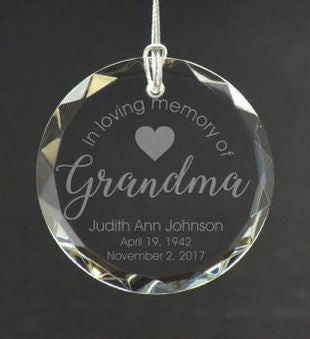Personalized Loving Grandparent Ornament