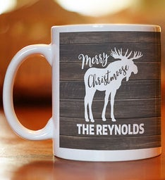 Personalized Merry Christmoose Mug