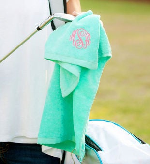Personalized Mint Golf Towel