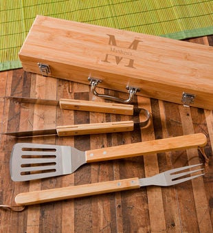 Personalized Monogrammed Grilling Bbq Set