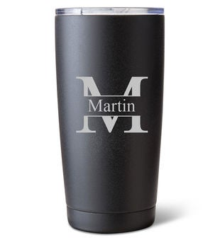 Personalized Black Stainless Steel Tumblr