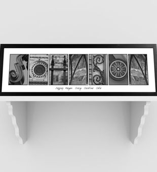 Personalized Black & White Long Architect Frame
