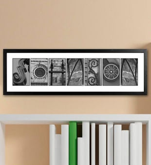 Architectural Elements Alphabet Family Name Sign