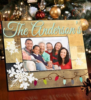 Personalized Family Snowflakes Picture Frame