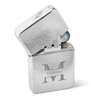 Brushed Stainless Steel Windproof Lighter