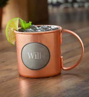 Personalized Moscow Mule Copper Mug