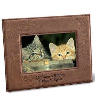 Personalized Black Leatherette Frame
