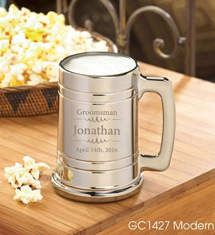 Personalized Groomsmen Metallic Mug