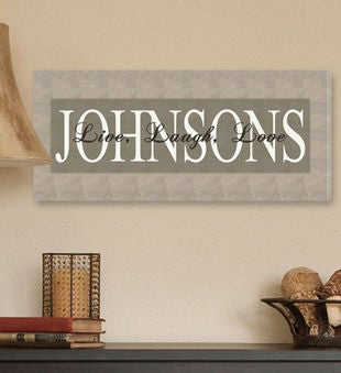 Personalized Canvas Sign- Live, Laugh, Love