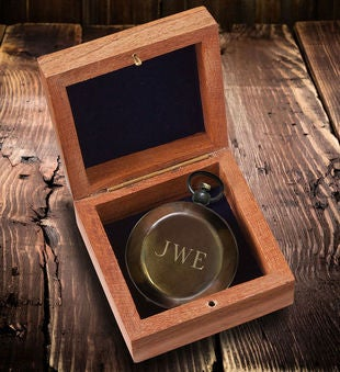 Personalized Antiqued Keepsake Compass