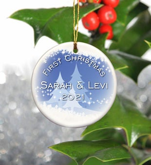 Personalized Holiday Ceramic Ornament