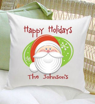 Personalized Holiday Throw Pillow