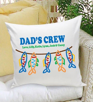 Personalized Parent Throw Pillow