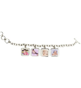 Personalized Photo Bracelet With 4 Charms