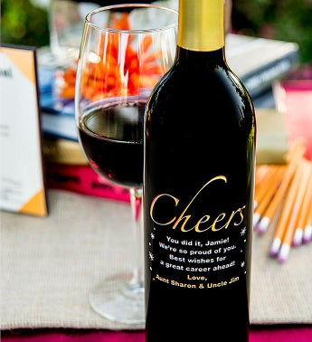 Cheers! Personalized Wine Bottle