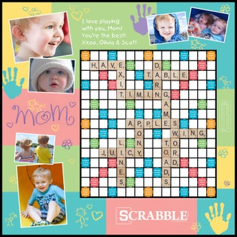 Kidprint Mom Custom Scrabble Game