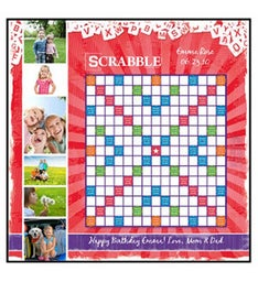 Valentine Red Custom Scrabble Game