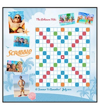 Beach Blue Custom Scrabble Game