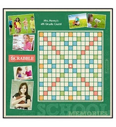 School Memories Custom Scrabble Game