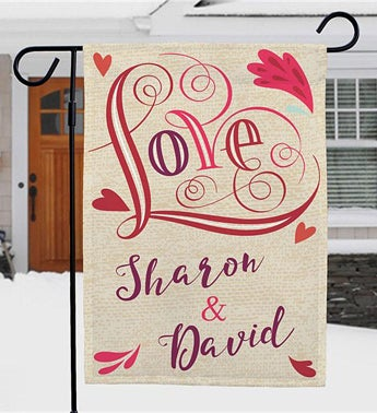 Personalized Valentines Day Décor Garden Flag