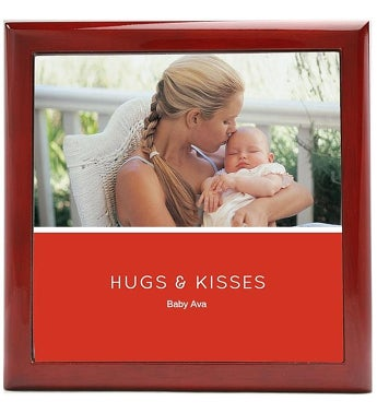 Hugs & Kisses Pink Keepsake Box