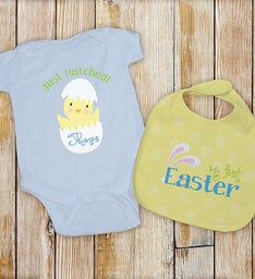 Personalized My First Easter Bib Set