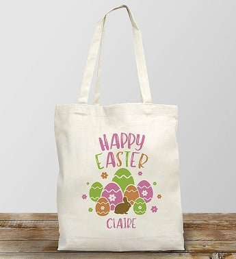 Personalized Happy Easter Tote Bag