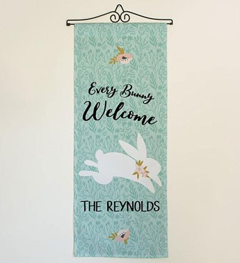 Personalized Every Bunny Welcome Door Banner