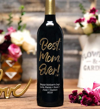 Best Mom Ever! Personalized Wine Bottle