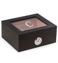 Personalized Espresso Wood Cigar Humidor