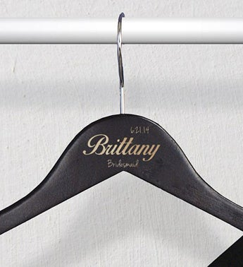 Personlized Black Wedding Party Hangers