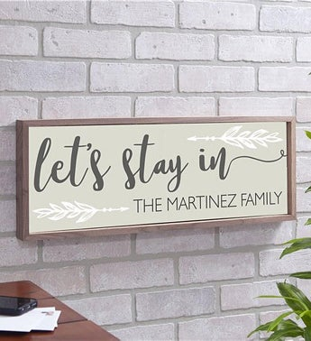 Persoanlized Lets Stay In Wall Decor