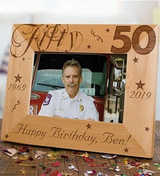 Engraved 50th Birthday Picture Frame