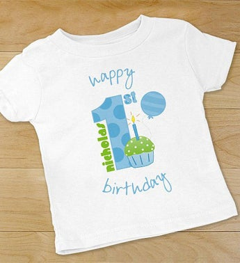 Baby Boy's 1st Birthday Personalized T-Shirt