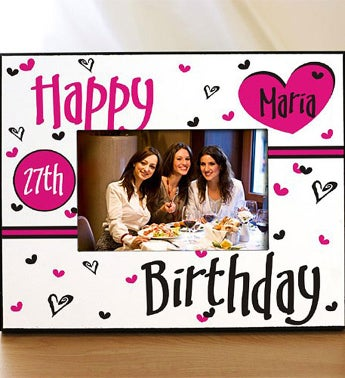 Personalized Happy Birthday Printed Frame