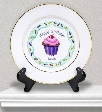Personalized Ceramic Birthday Girl Plate