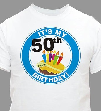 Personalized 50th Birthday T-Shirt