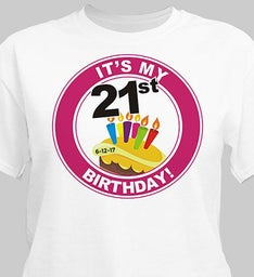 Personalized 21st Birthday T-Shirt