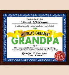 Personalized Worlds Greatest Plaque