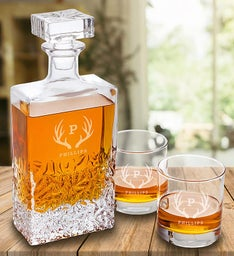 Engraved Kinsale Rectangular Whiskey Decanter