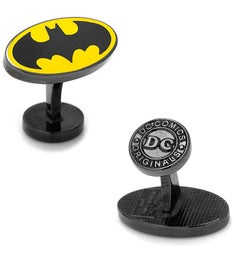 Transparent Enamel Batman Cufflinks