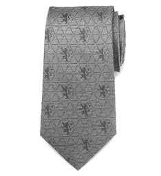 Lannister Geometric Sword Gray Mens Tie