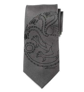Targaryen Dragon Gray Men's Tie