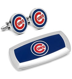 Chicago Cubs Cufflinks  Cushion Money Clip Set