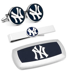 New York Yankees Cufflinks and Clip