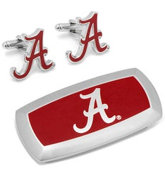 Alabama Crimson Tide Cufflinks and Cushion Money