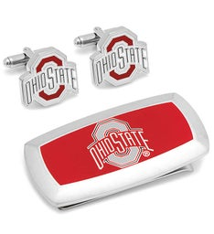 Ohio State University Cufflinks  Money Clip